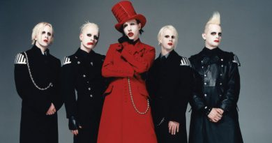 a photo of Marilyn Manson and band